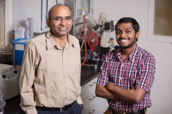 B.K. Sharma – senior research engineer, Illinois Sustainable Technology Center (left) and Sriraam R. Chandrasekaran, lead research engineer. Photo by L. Brian Stauffer