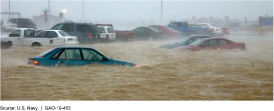 Flooding at Naval Station Norfolk, Virginia